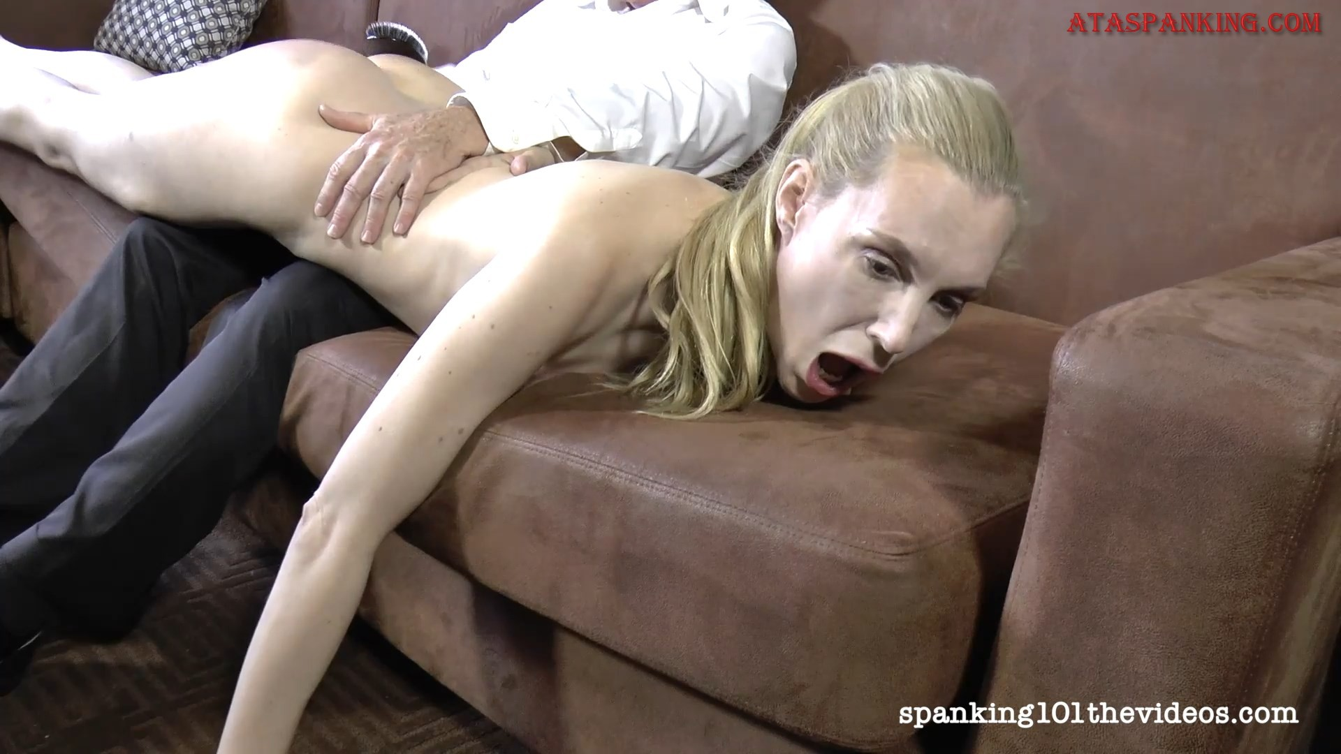spanking young little real